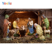 Christmas Photography Backgrounds Christian Jesus Nativity Scene Baby Customized Vinyl Photographic Backdrops For Photo Studio цены