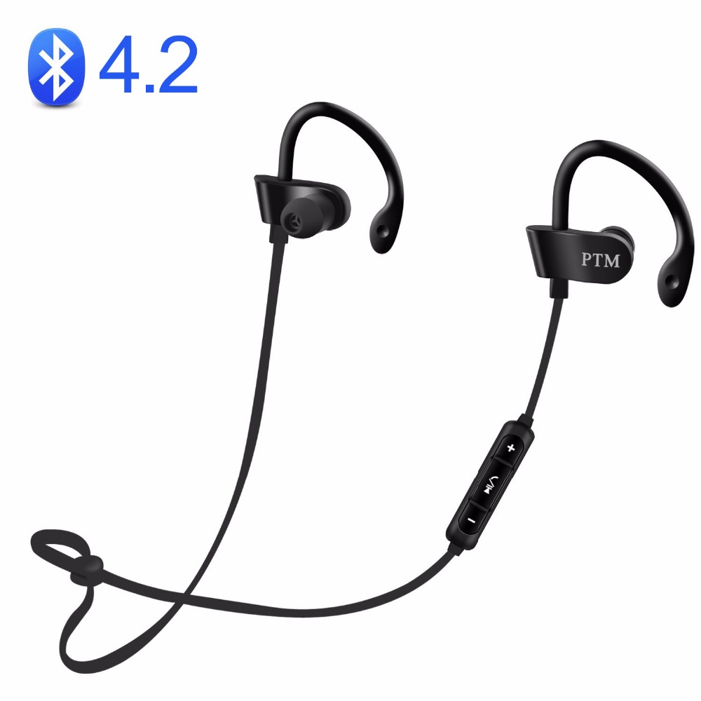 PTM B27 Earphone Wireless Headphone Bluetooth 4.2 Headset with Microphone Earbuds Fone de ouvido for Mobile Phone for Andriod free shipping wireless bluetooth headset sports headphone earphone stereo earbuds earpiece with microphone for phone