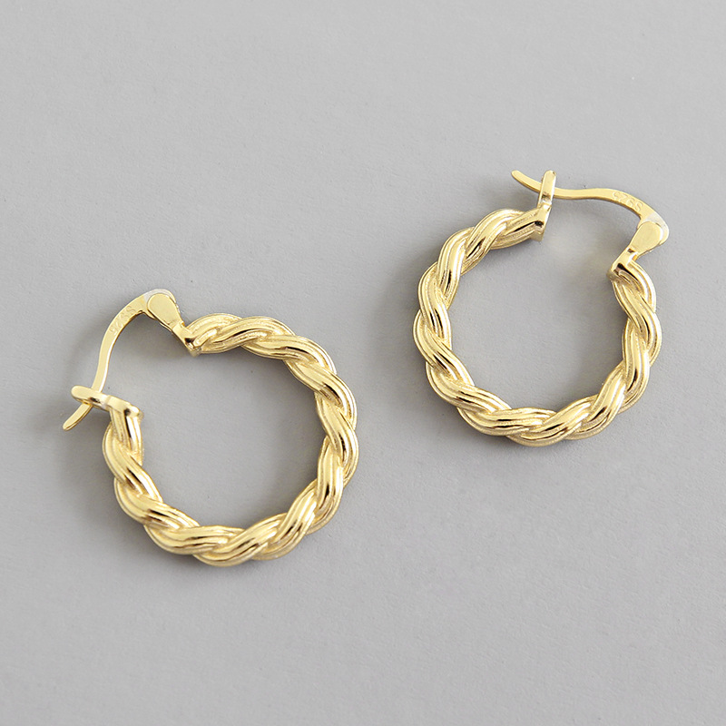 34mm Edforce Women/'s Stainless Steel Black//Red Twisted Hoop Earrings,