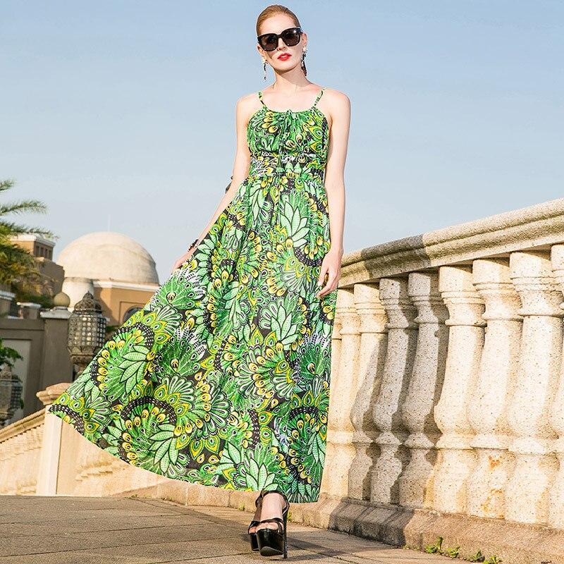 100% Cotton spaghetti strap bohemian beach sexy long dress 2019 new high quality office lady women summer