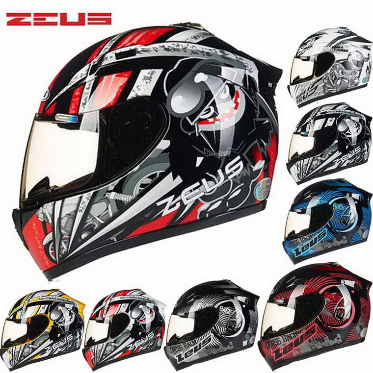 2018 New Taiwan ZEUS Full Face Motorcycle Helmet Motorbike Racing Electric Bicycle Motocross Off-road Helmets Four Season Unisex 2017 new yohe full face motorcycle helmet yh 970 double lens motorbike helmets made of abs and pc lens with speed color 4 size