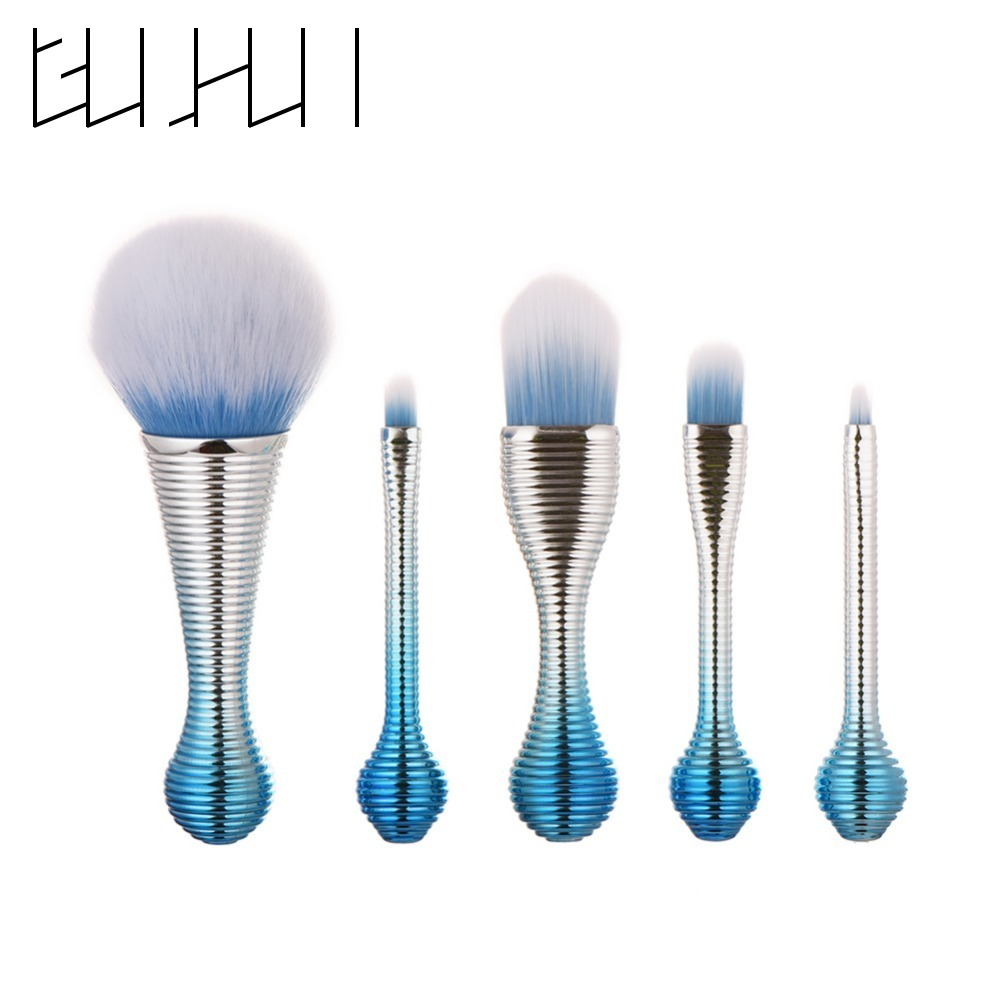 Professional 5Pcs Makeup Brush Set Powder Foundation Eyebrow Eyeshadow Contour Blush Blending Cosmetic Make Up Brushes Tools Kit new lcbox professional 16 pcs makeup brush set kit pouch bag cosmetic brush kit cosmetic powder foundation eyeshadow brush tools