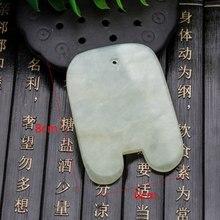 1Pcs Pain Relief Natural Jade Stone Guasha Gua Sha Board Massage Hand Massager Relaxation Comb