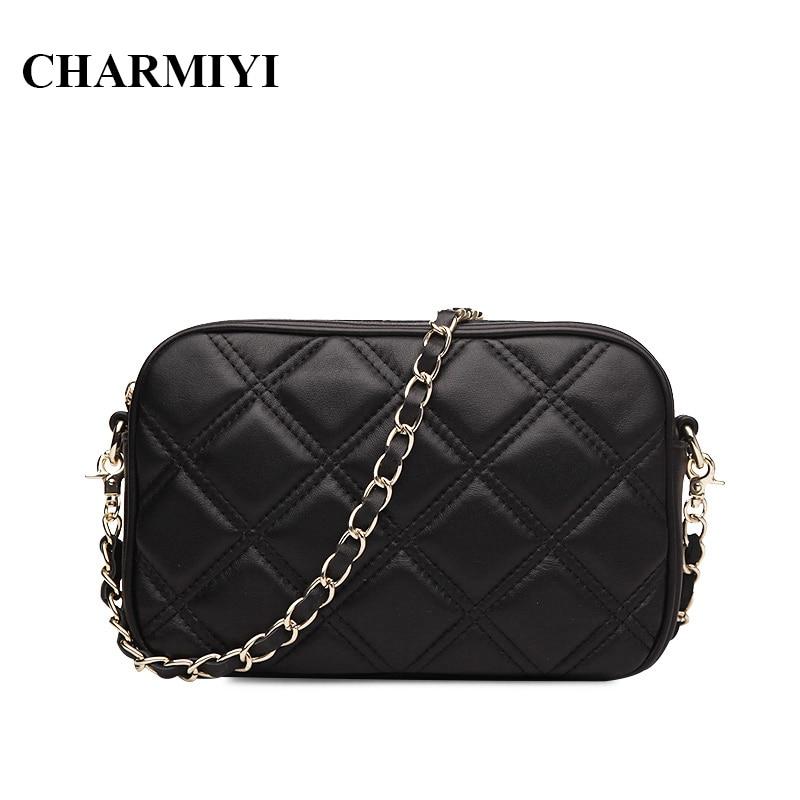 CHARMIYI Mini Genuine Leather font b women b font Messenger font b bags b font font