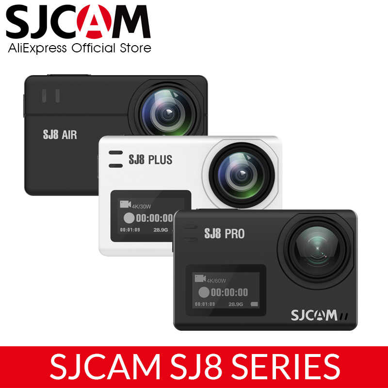 Asli SJCAM SJ8 Seri SJ8 Air & SJ8 PLUS & SJ8 Pro 1290P 4K 60fps Action Camera Wifi remote Control Tahan Air Olahraga DV