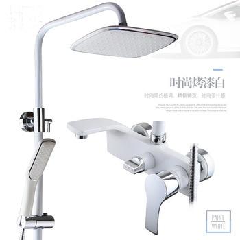 Europe Luxury Bath Shower Set Black Golden Rainfall System Solid Brass Bathroom Shower Mixer Bathroom Accessories Shower Panel