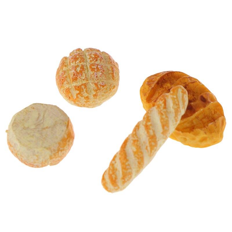 4Pcs 1/12 Dollhouse Miniature Simulation Bread Dollhouse Miniature Food Breakfast Snack Dessert Kitchen Toys