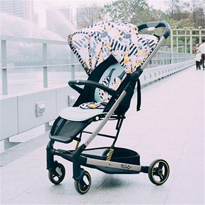 Poussette bébé de luxe 2 en 1 légère Yoya Plus bébé poussette livraison gratuite pliante peut s'asseoir ou mentir landau chariot chariot