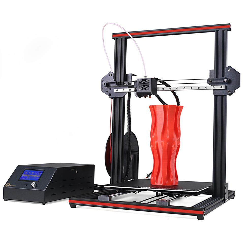 DMSCREATE DP334 3D Stampante 300*300*400mm Grande Formato di Stampa Full Frame In Metallo KIT di Guida Lineare 2 passi installare, 24 v di alimentazione