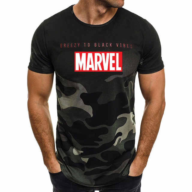 9f8dc9b0 Ultra-thin New Fashion Marvel Short Sleeve T-shirt Men Superhero print t  shirt