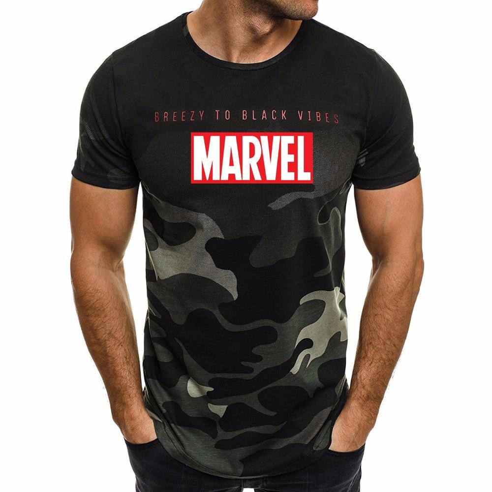 Ultra-thin New Fashion Marvel Short Sleeve   T  -  shirt   Men Superhero print   t     shirt   O-neck comic Marvel   shirts   tops men clothes Tee