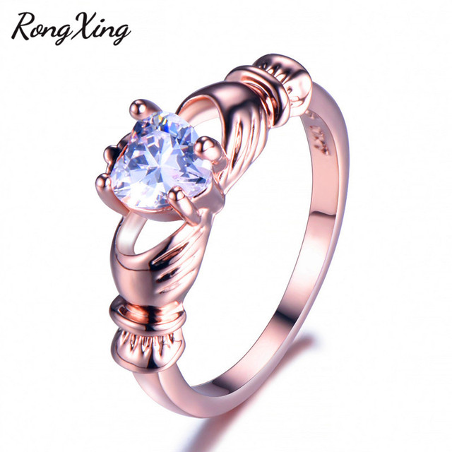 Claddagh Ring Gold Womens 1