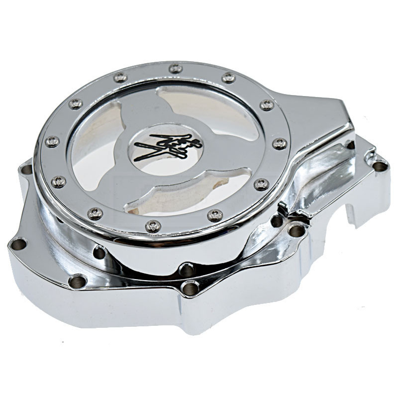 For Suzuli GSXR1300 GSX-R 1300 Hayabusa GSX1300R 1999-2013 2014 2015 Motorcycle see through Engine Stator Cover Chrome left side aftermarket free shipping motorcycle parts engine stator cover for suzuki hayabusa gsx 1300r 1999 2015 left side chrome