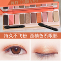 Grapefruit juice 10 Eyeshadow earth color matte pearl hit color palette lasting fly nude make-up