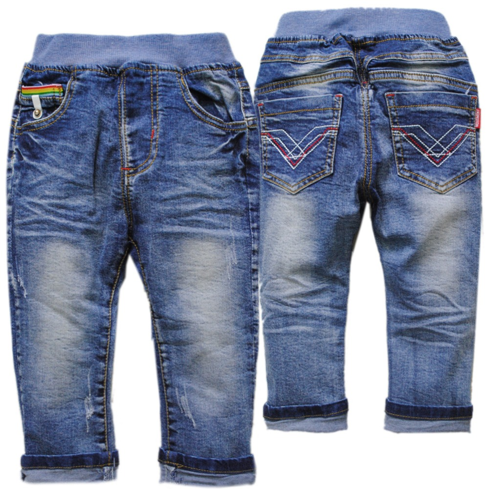 4102 kids jeans boy soft denim pants blue spring autumn girls trousers unisex child fashion 2018 new baby boys jeans pants