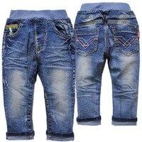 4102 kinder jeans jungen weichem denim hosen blue frühling herbst mädchen hosen unisex kind mode 2018 neue baby jungen jeans hosen