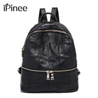iPinee Large Capacity Women's Genuine Leather Backpacks Female School Bag Laptop Backpack Wholesale