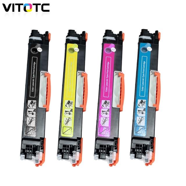 d2310649fca1 CF350A CF351A CF352A CF353A 130A Color Toner Cartridge Compatible for HP  Color LaserJet Pro MFP M176n M176 M177fw M177 Printer