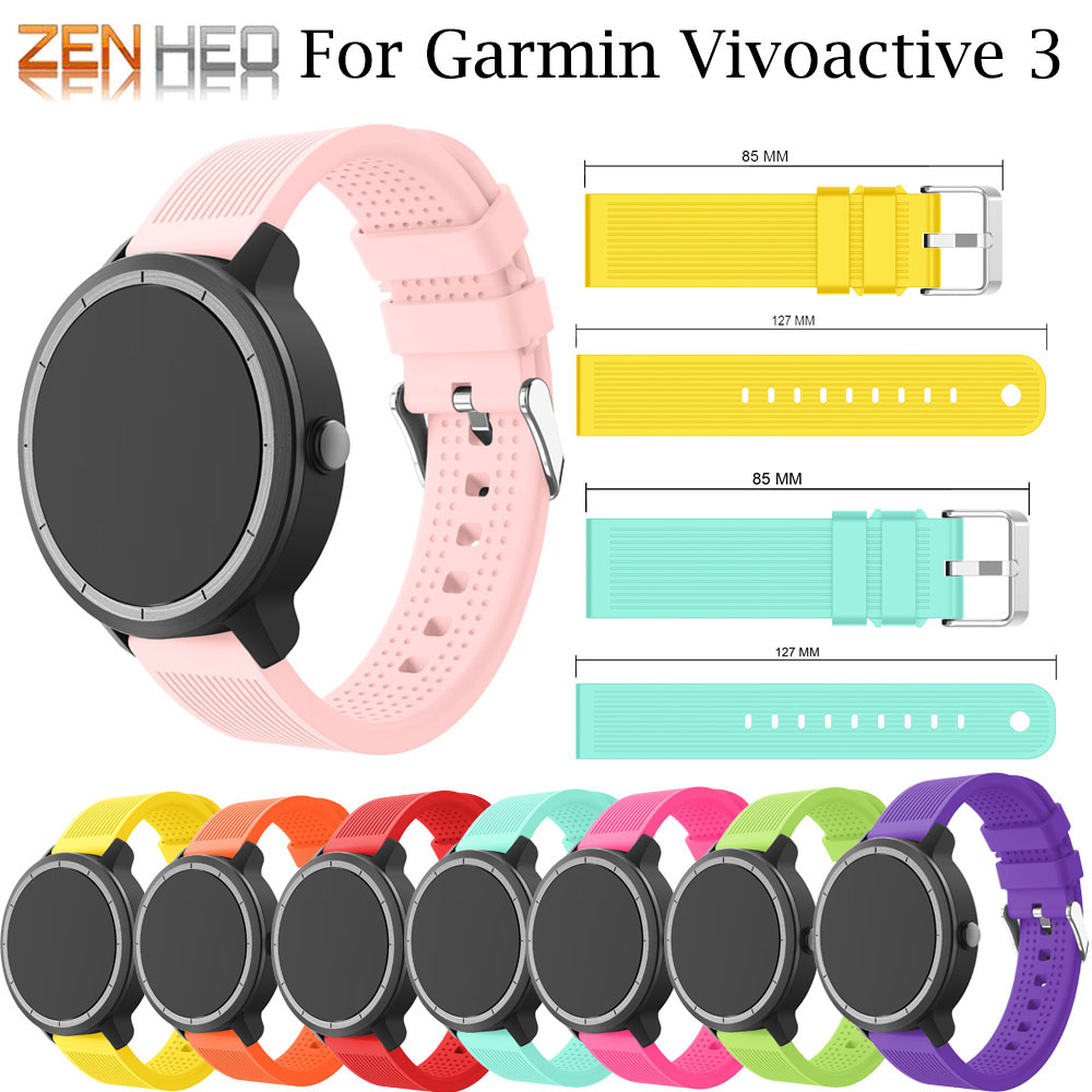 Colorful Soft Silicone Replacement Strap For Garmin Vivoactive3 Vivomove HR Smart Wristband For Garmin Vivoactive 3 Wrist Strap