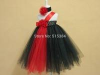 New Designs Black Red Tutus For Children Kids Girls Princess Evening Tutu Gowns Retail Wholesale Baby