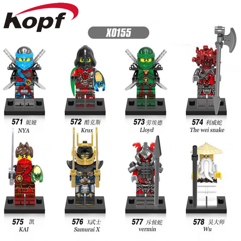 Single Sale Super Heroes Ninja Figures Lloyd NYA Krux The wei snake Bricks Building Blocks Education Toys for children X0155 didriksons куртка didriksons