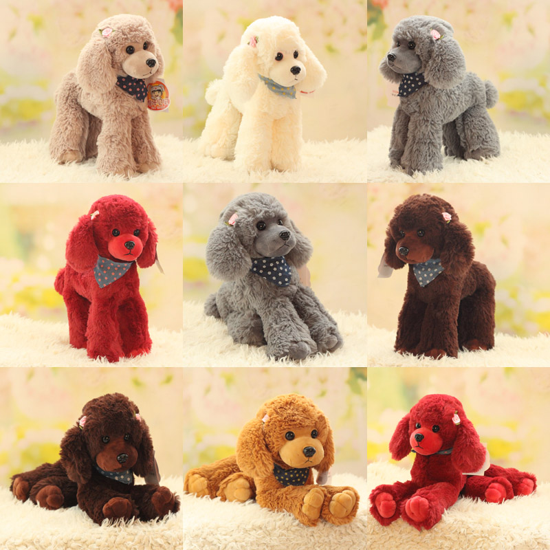 Candice Guo! Cute Plush Toy Lovely Emulational Teddy Dog Flower Poodle Puppy Soft Stuffed Doll Girl Birthday Christmas Gift 1pc