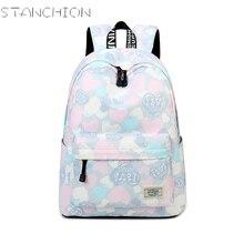Стойки полиэстер рюкзак для женщин Водонепроницаемый Sweet Heart свежий большой Ёмкость подросток дорожная школьный рюкзак