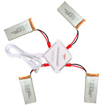 4 PCS 3.7V 800mAh Lipo Battery For RC Drone JJRC F181 H12C + JST 4-in-1 Charger