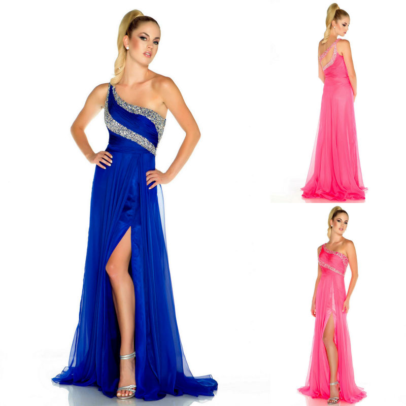 Grecian Prom Dresses 2013 One Shoulder Grecian P...
