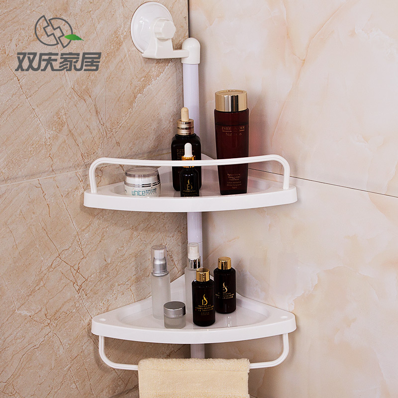 Plastic 2 Layer Spice Rack Wall Mount Type Kicthen