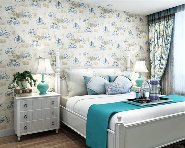 Beibehang British Style Paper 3d Wallpaper Boy Girl Bedroom Bedroom Room  Living Room Study Wallpaper Papel De Parede Tapety
