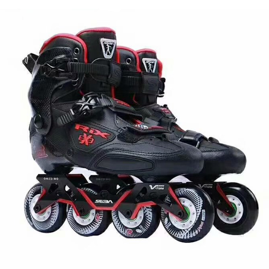 Patin Japy 100% Original SEBA TRIX PRO professionnel adulte patins à roues alignées chaussures en Fiber de carbone Slalom toboggan Patines libres