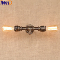 IWHD Loft Style Retro Water Pipe Lamp Industrial Edison Wall Sconce Switch Vintage Wall Light Fixtures Indoor Lighting Lamparas