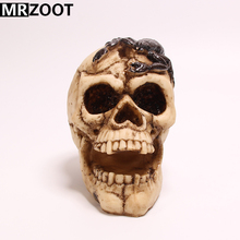 MRZOOT Gothic Punk Home and Halloween Decoration Creative Personalized Skull Sculpture Model with Scorpion on Head