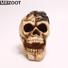 купить MRZOOT Gothic Punk Home and Halloween Decoration Creative Personalized Skull Sculpture Model with Scorpion on Head по цене 1888.15 рублей
