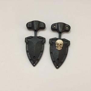Image 5 - Cuchillo de bolsillo de calavera multifunción para acampada al aire libre, cuchillo táctico de supervivencia, COLLAR COLGANTE, llavero EDC, herramienta de supervivencia, novedad