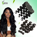 7A Brazilian Body Wave With Frontal Closure 13x4 Human Hair Lace Frontal With Bundles Brazillian Virgin Hair With Lace Frontal