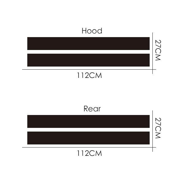 Автомобильный Стайлинг двойной ралли гоночный капот загрузки задняя крыша полосы Наклейка виниловая для Mini Cooper R56 R50 R53 F55 F56 F60 R60 R55 - Название цвета: Hood and Boot Stripe