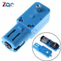 1: 90 3 V-6 V robot de engranaje de Metal reductor de velocidad de vehículo inteligente TT motor de eje único producto acabado azul de calidad Superior