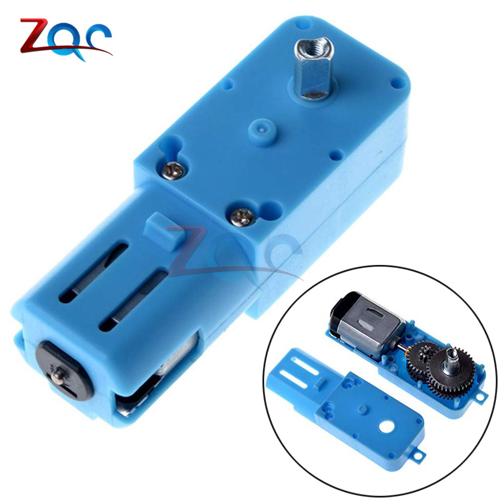 1:90 3V-6V Metal gear robot intelligent vehicle speed reducer TT <font><b>motor</b></font> single shaft finished product Blue shell Superior quality image
