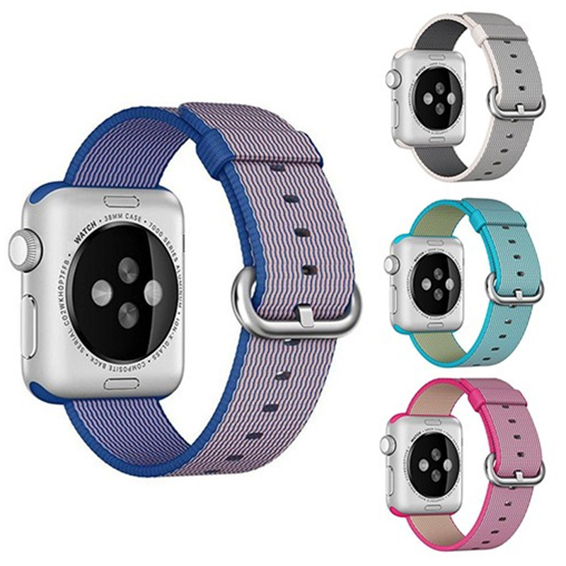 Sport nylon strap watch band for apple watch 42mm 38mm wrist bracelet Woven Nylon watchband for iwatch 2/1/Edition