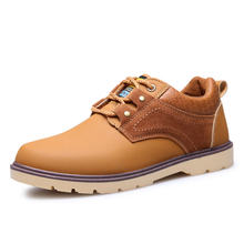 New arrival autumn winter  business men  warm vintage Tooling shoes breathable Casual mixed color shallow mouth all match Shoes