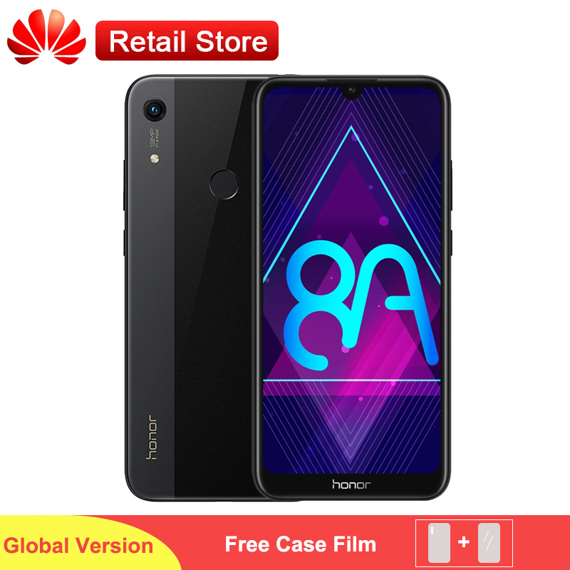 Global Version Honor 8A Smartphone 6 09 MT6765 Octa Core Android 9 Face ID 3 Card