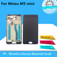 Tested LCD Screen Display Touch Digitizer With Frame For 5 2 Meizu M5 Mini Black Color