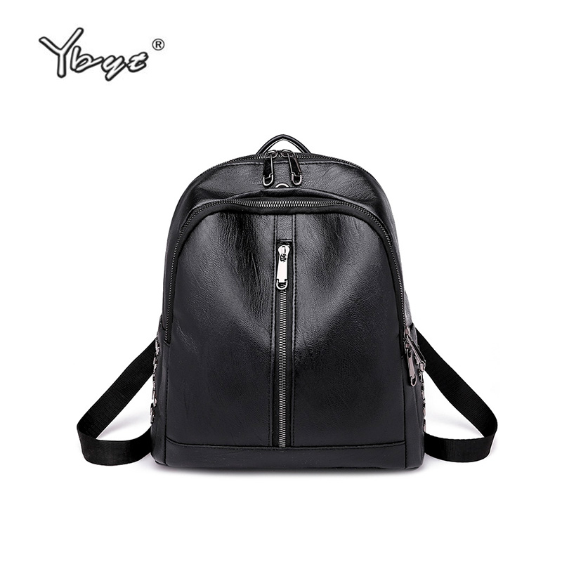 72942a2fdc82 ... YBYT brand 2018 new PU leather female stylish backpacks preppy style  casual student school bag simple