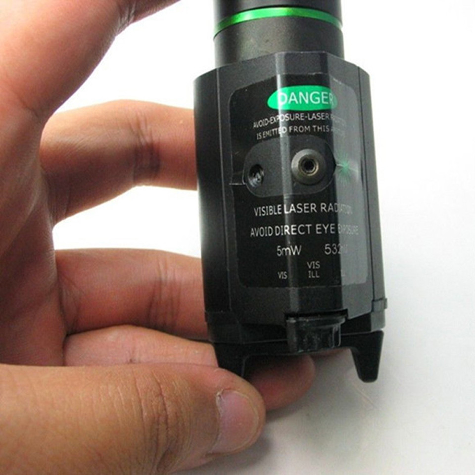 Tactical Green Laser Sight with LED Flashlight 2 in 1 Combo 20mm Mount Ultra Bright 225 lumen for Glock 17 Hunting-5