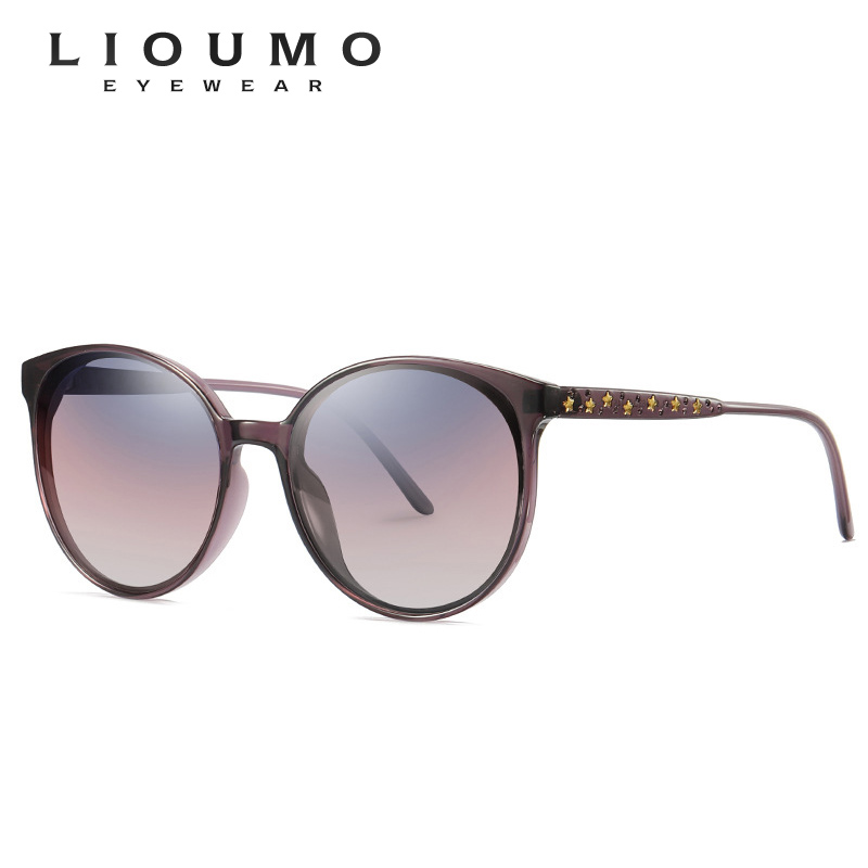 New Polarized Classic Vintage Sunglasses Women Cat Eye Glasses Frame With Stars Temple Females Eyewear Gradient UV400 Protection in Women 39 s Sunglasses from Apparel Accessories