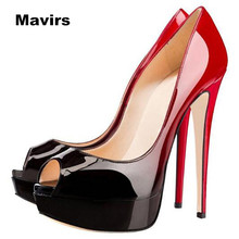 Mavirs 2017 Fashion Peep Toe Platform Brand Large Size Footwear Women High Heels Pumps Female Stiletto Shoes Wedding Bride Party