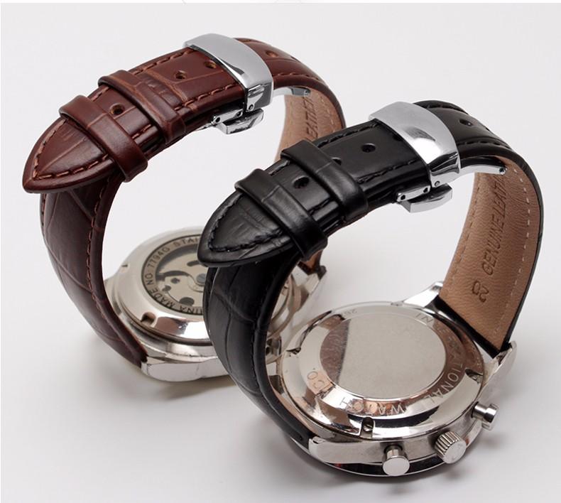 горячие продажи ремешок для часов, высококачественная кожа, часы аксессуары 18 мм 19 мм 20 мм 21 мм 22 мм ремень пояс бесплатная доставка