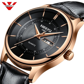NIBOSI Watch Men Sports Waterproof Date Analogue Quartz Men's Watches Chronograph Business Watches For Men Relogio Masculino